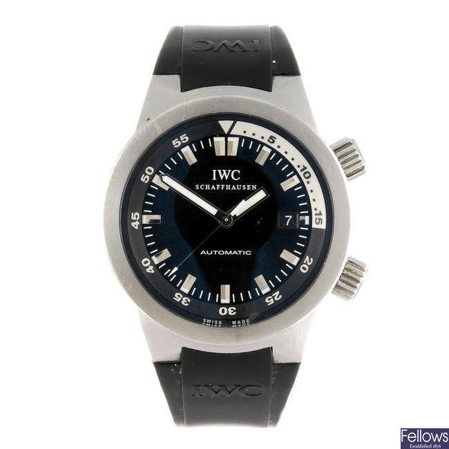 IWC - a gentleman's Aquatimer wrist watch.