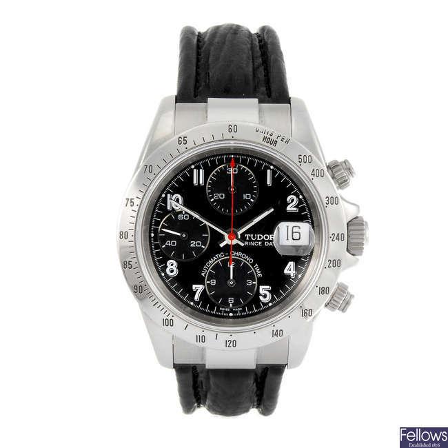 TUDOR - a gentleman's Prince Date chronograph wrist watch.