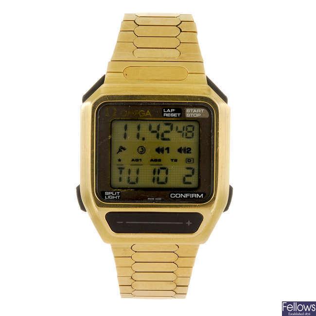 OMEGA- a gentleman's digital bracelet watch.