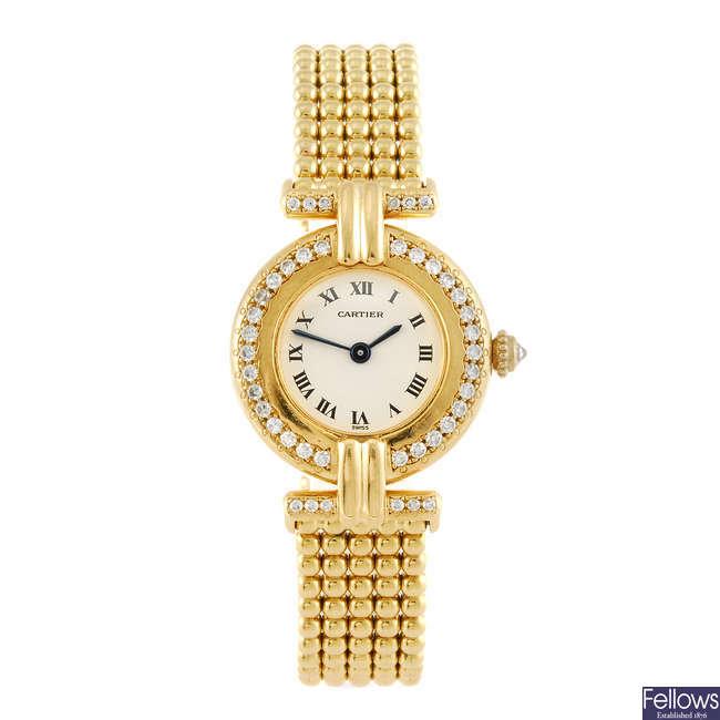 CARTIER - a Vendome bracelet watch.