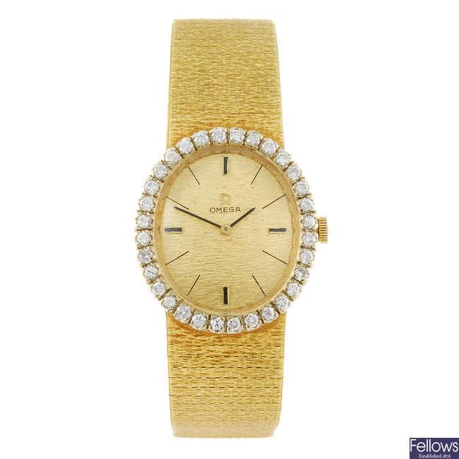 OMEGA - a bracelet watch.