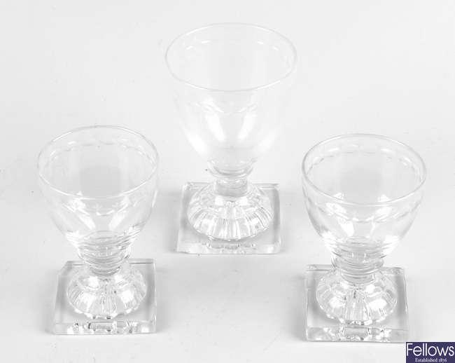 Three Georgian glasses