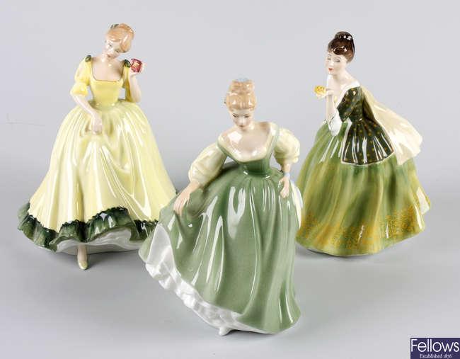 Four Royal Doulton bone china figures