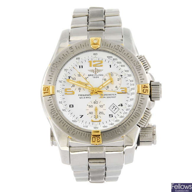 BREITLING - a gentleman's stainless steel Professional Emergency Mission bracelet watch.