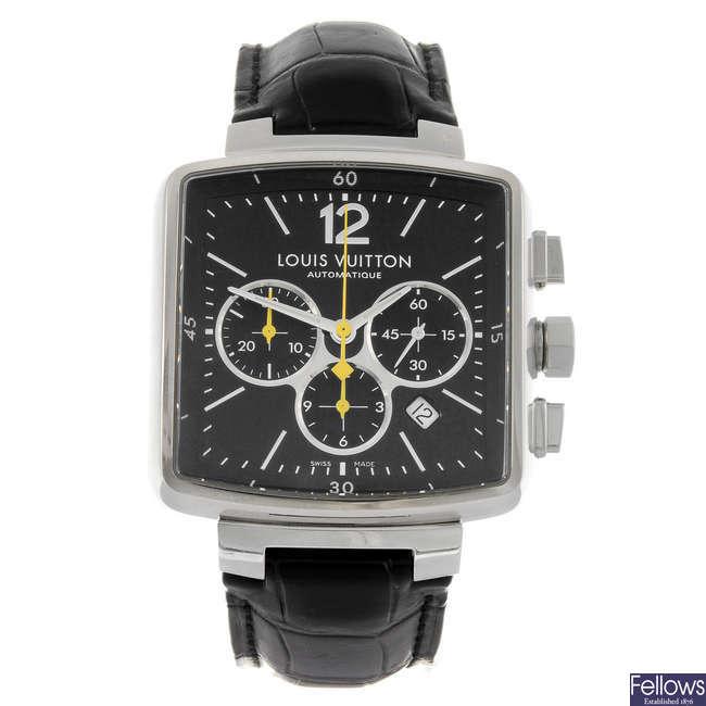 LOUIS VUITTON - a gentleman's Speedy chronograph wrist watch.