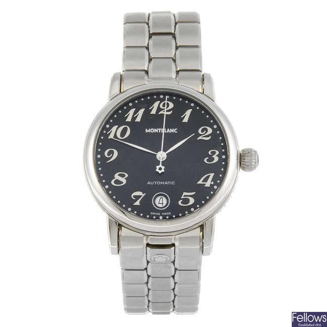 MONTBLANC - a gentleman's Meisterst�ck bracelet watch.