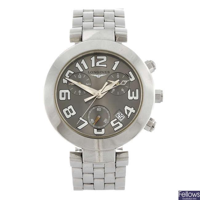 LONGINES - a gentleman's stainless steel Dolce Vita chronograph bracelet watch.