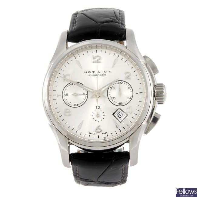 HAMILTON - a gentleman's chronograph wrist watch.
