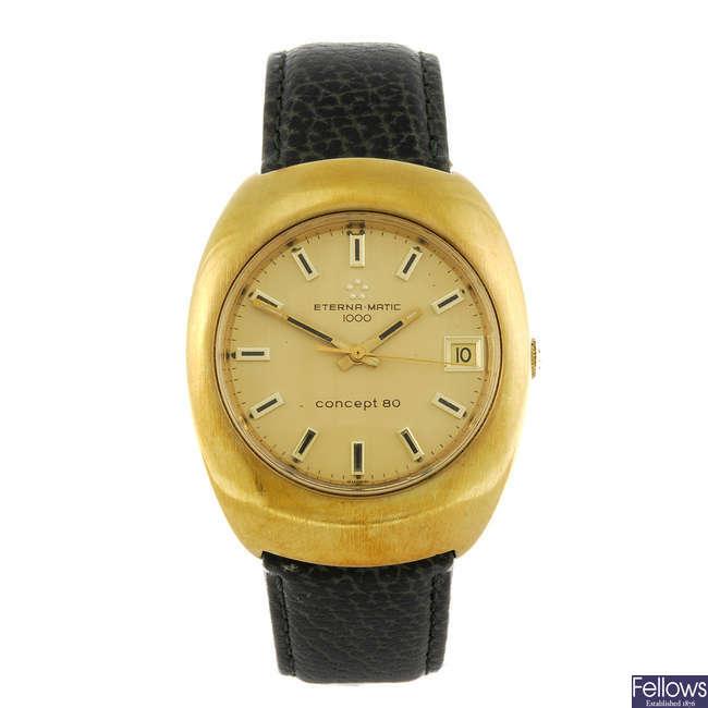 ETERNA-MATIC - a gentleman's gold plated Concept 80 wrist watch.