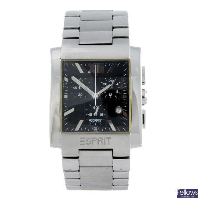 ESPIRIT - a gentleman's stainless steel chronograph bracelet watch.