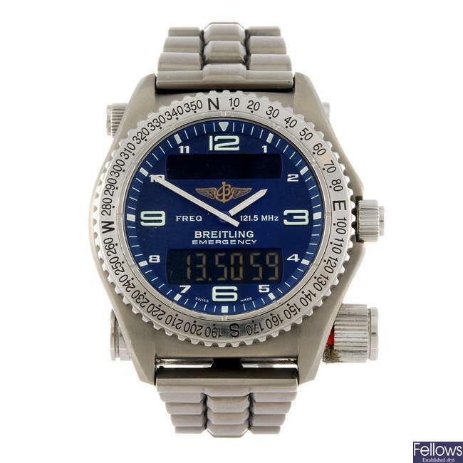 BREITLING - a gentleman's Professional Emergency bracelet watch.