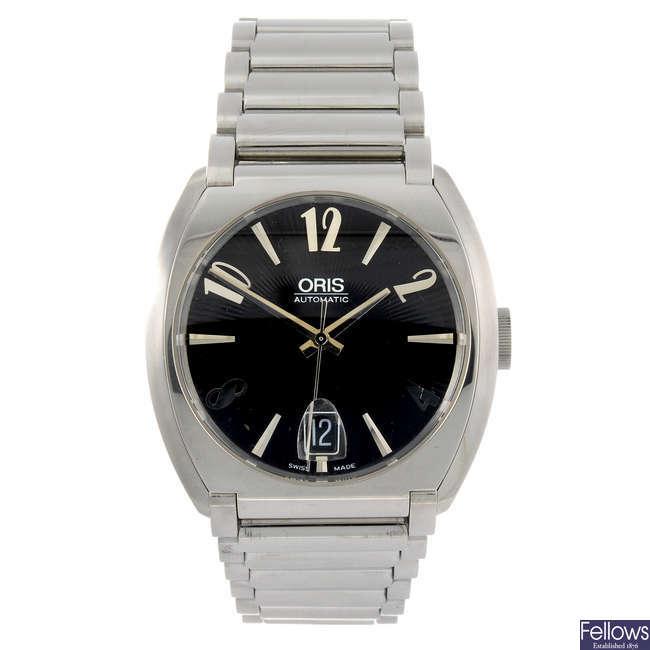 ORIS - a gentleman's Frank Sinatra bracelet watch.