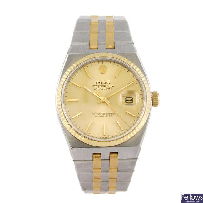 ROLEX - a gentleman's Oysterquartz Datejust bracelet watch.