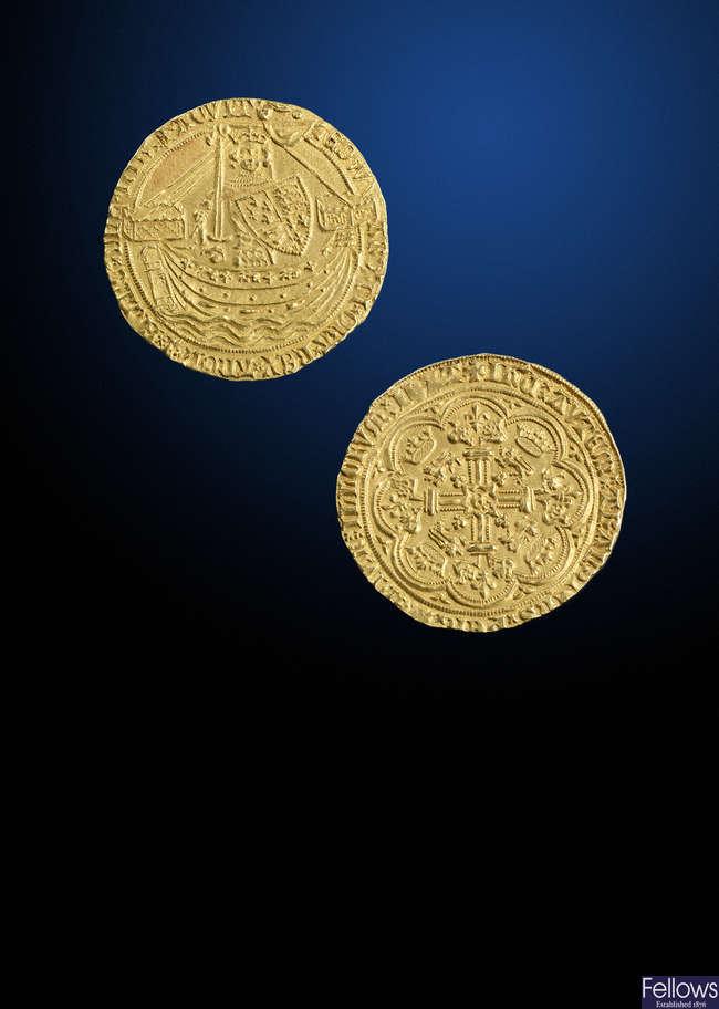 Edward III (1327-1377), gold Noble, London.