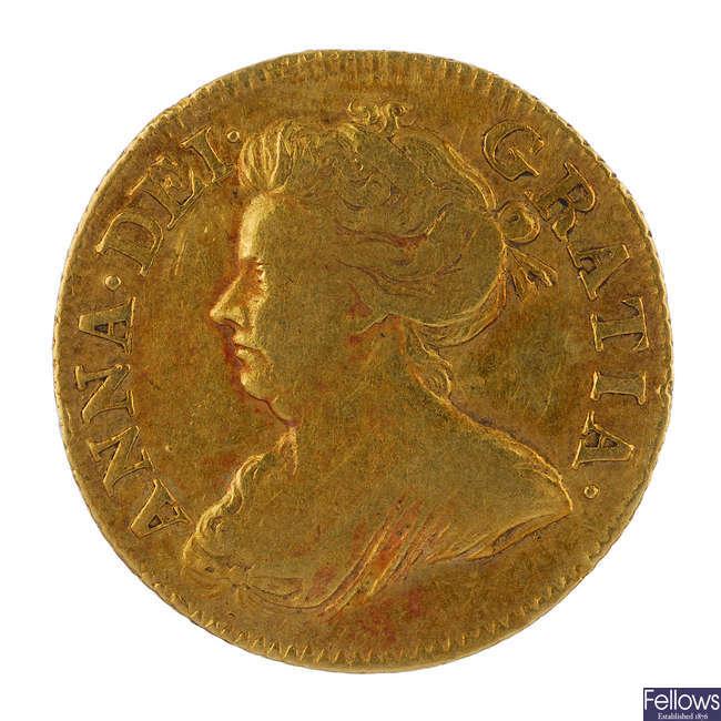 Anne, Half-Guinea 1714 (S 3575).