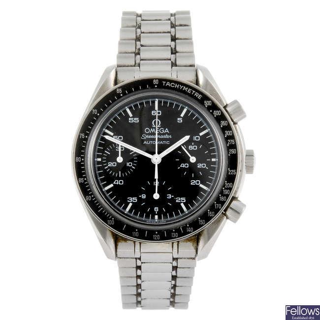 OMEGA - a gentleman's Speedmaster chronograph bracelet watch.