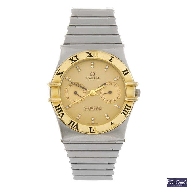 OMEGA - a gentleman's Constellation bracelet watch.