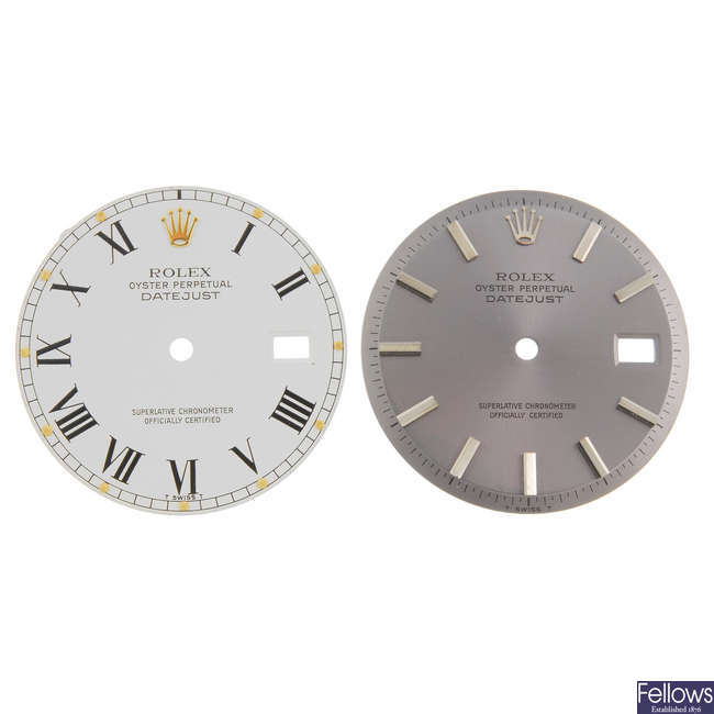 ROLEX - a mixed group of watch dials.