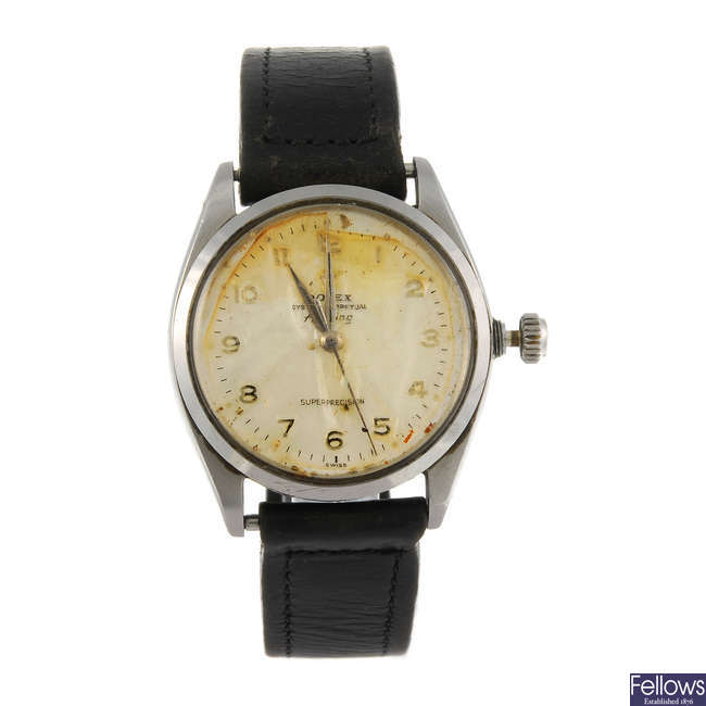 ROLEX - a gentleman's Oyster Perpetual Air-King Superprecision wrist watch.