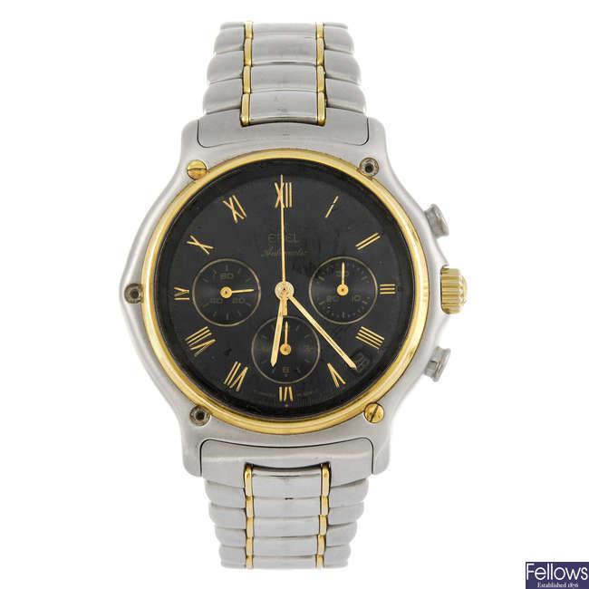 EBEL - a gentleman's bi-metal Sports Classic chronograph bracelet watch.