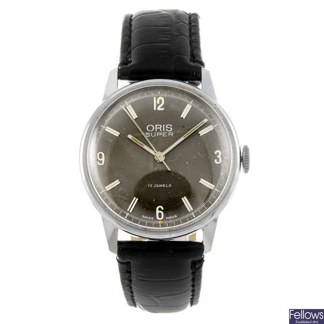 ORIS - a gentleman's base metal Super wrist watch.