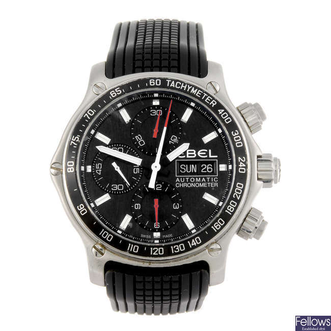 EBEL - a gentleman's stainless steel 1911 Discovery chronograph wrist watch.