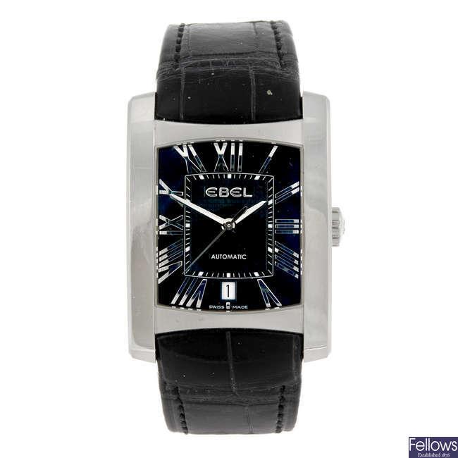 EBEL - a gentleman's stainless steel Brasilia wrist watch.