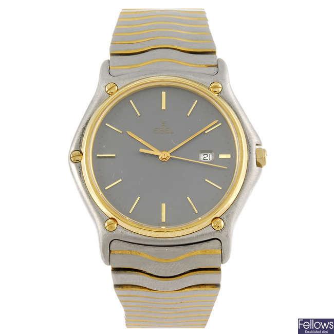 EBEL - a gentleman's bi-metal Classic Wave bracelet watch.