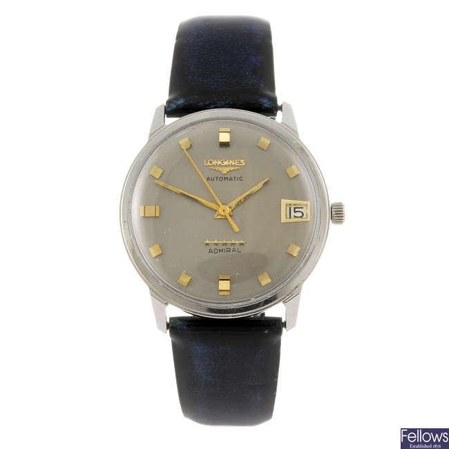LONGINES - a gentleman's Admiral wrist watch.