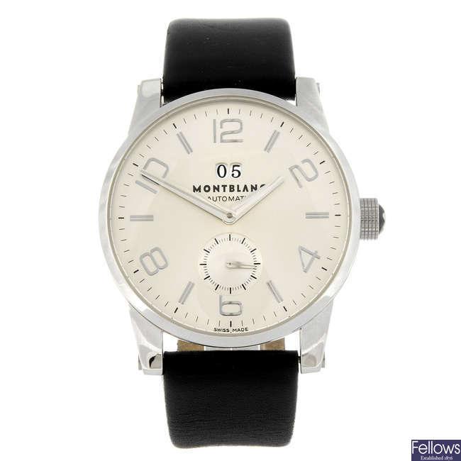 MONTBLANC - a gentleman's Timewalker wrist watch.