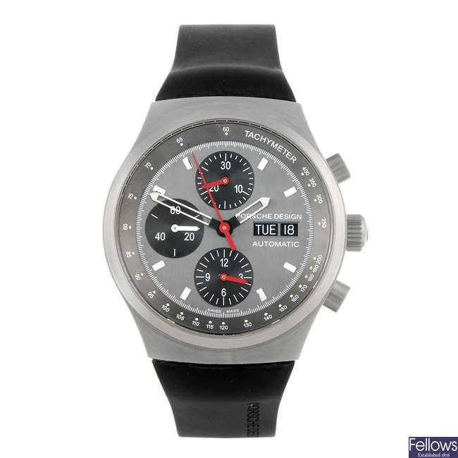 PORSCHE DESIGN - a gentleman's Heritage chronograph bracelet watch.