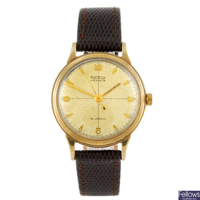 ROTARY - a 9ct gold gentleman's wrist watch