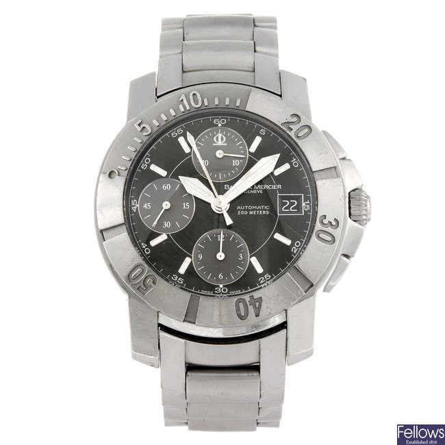 BAUME & MERCIER - a gentleman's Capeland chronograph bracelet watch.