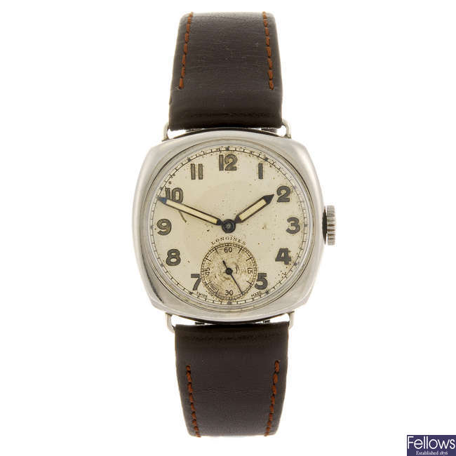 LONGINES - a gentleman's wrist watch with two lady's Longines watches.