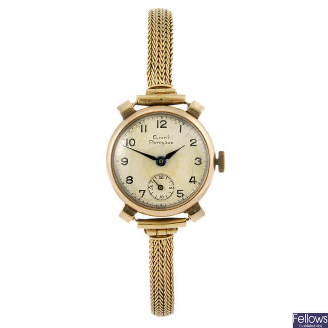 GIRARD-PERREGAUX - a lady's bracelet watch.