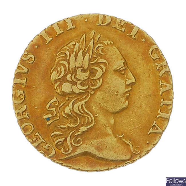 George III, Quarter Guinea 1762.