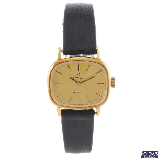 OMEGA - a lady's 18ct yellow gold De Ville wrist watch with three Regency and an Oris watch.