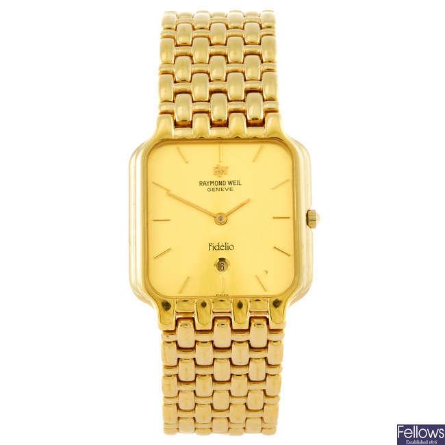 RAYMOND WEIL - a gentleman's Fidelio bracelet watch.