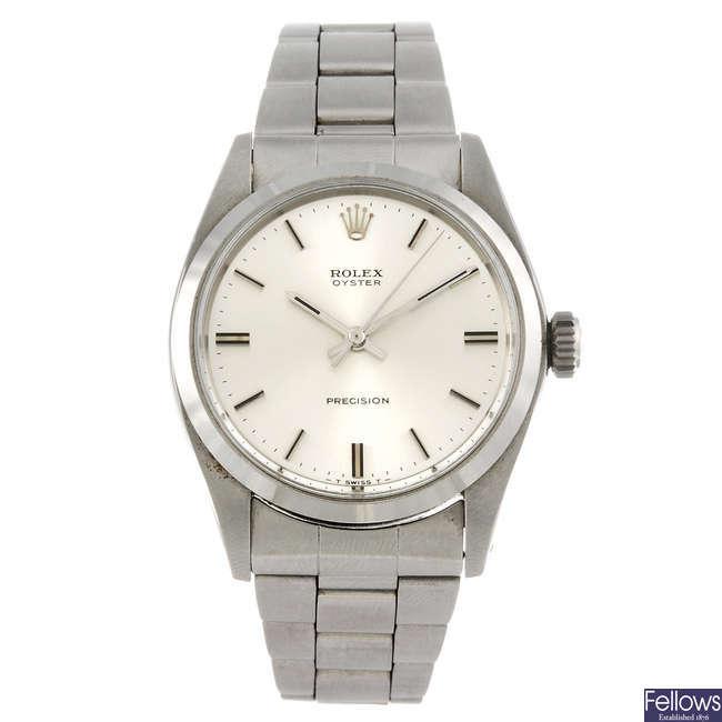 ROLEX - a gentleman's Oyster Precision bracelet watch.