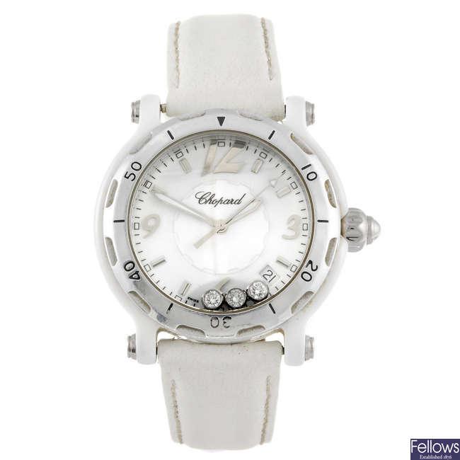 CHOPARD - a lady's Happy Diamonds wrist watch.