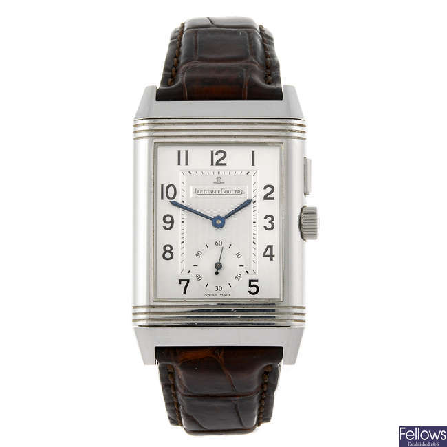 JAEGER-LECOULTRE - a gentleman's Reverso Grand Taille Duoface wrist watch.
