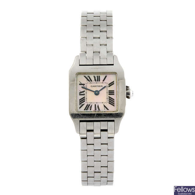 CARTIER - a Santos Demoiselle bracelet watch.
