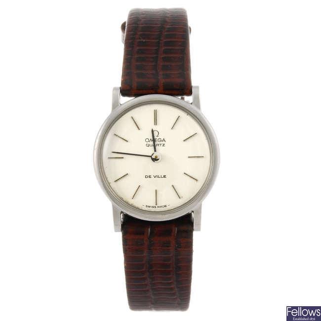 OMEGA - a lady's De Ville wrist watch.