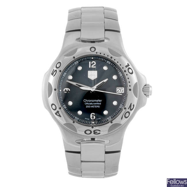 TAG HEUER - a gentleman's Kirium bracelet watch.