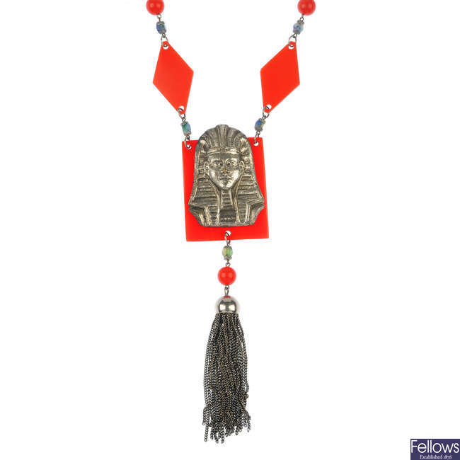 A Egyptian style necklace.
