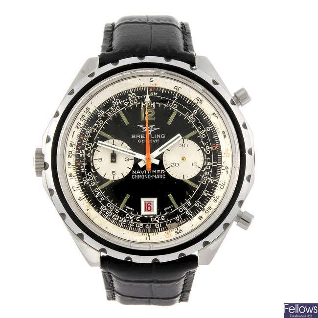 BREITLING - a gentleman's Navitimer Chrono-Matic chronograph wrist watch.
