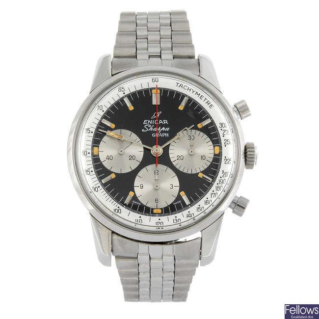 ENICAR - a gentleman's Sherpa Graph chronograph bracelet watch.