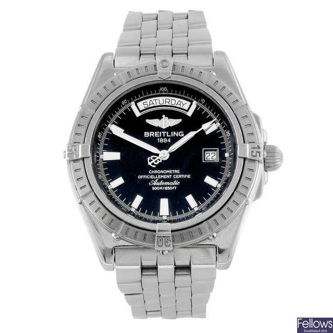 (926008552) BREITLING - a gentleman's stainless steel Windrider Headwind bracelet watch.