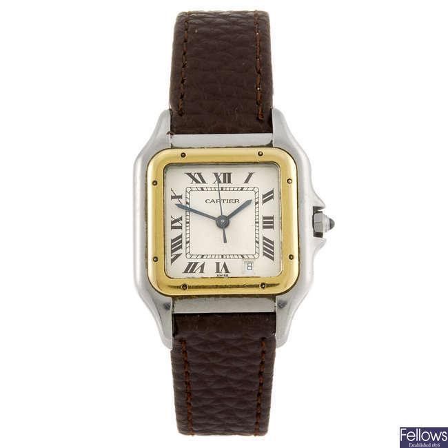 CARTIER - a Panthere wrist watch.