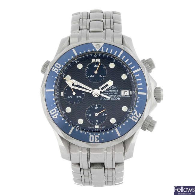 OMEGA - a gentleman's Seamaster Professional chronograph bracelet watch.